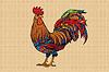 Gallic rooster farm bird, 2017 symbol | 向量插图