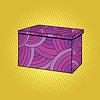 Festive Burgundy gift box | 向量插图
