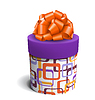 Bunte violett und orange Celebration Geschenkbox wit