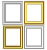 Goldene und silberne Rahmen