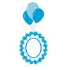Baby-Rahmen auf die Luftkugeln