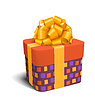 Bunte violett und orange Celebration Geschenkbox wit