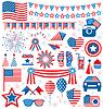 USA Feier Flach nationalen Symbole für setzen