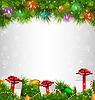 Glänzender Weihnachtsbaum mit Geschenk-Boxen und führte
