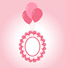 Lace rosa Baby-Rahmen auf Luft-Kugeln