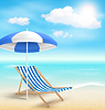 Strand mit Sun Beach Umbrella Beach Chair und