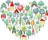 Herzen von Bäumen. Ich liebe Landschaft
