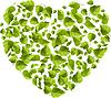 Herz aus grünen Blättern. Eco-Konzept