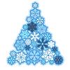 Weihnachtsbaum aus Schneeflocken