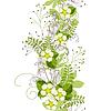 Nahtlose vertikale Blumenpastellmuster