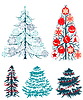 Collecton der stilisiert Weihnachtsbäume