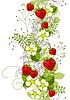 Nahtloses Blumenmuster mit Erdbeeren