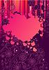 Rahmen mit großen rosa Herzen
