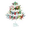 Weihnachtsbaum von Geschenk-Boxen gemacht