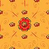 Красный мак цветок бесшовного