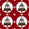 Geschenke Weihnachtsbaum auf rotem Hintergrund nahtlose