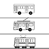 Vector clipart: Public transport bus trolleybus tram