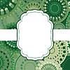Векторный клипарт: Узорная рамка фон приглашение круговой