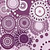 Векторный клипарт: старинные ретро круговой орнамент фон розовый
