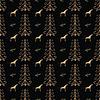 Pferd unter Waldbäumen nahtlose Muster