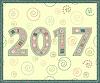 Vektor Cliparts: Frohes Neues Jahr 2017 handgefertigt