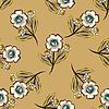 Vektor Cliparts: Abstrakt Floras Muster Hintergrund
