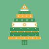 Vektor Cliparts: Weihnachtsbaumg Karte Hintergrund
