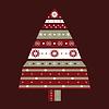 Vektor Cliparts: Weihnachtsbaumkarte Hintergrund