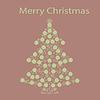 Vektor Cliparts: Weihnachtsbaumkugel Karte Hintergrund