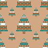 Vektor Cliparts: Weihnachtsbaumg nahtlose Muster