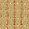 Vektor Cliparts: Pferd unter Waldbäumen nahtlose Muster