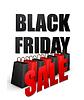 Black Friday Sales typografische Plakat