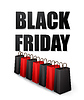 Black Friday Sales typografische Plakat