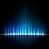 Blau aurora Licht. Abstrakte Hintergründe