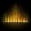 Gold aurora Licht. Abstrakte Hintergründe