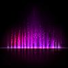 Violet aurora Licht. Abstrakte Hintergründe