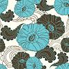 floral nahtlose blauen Mohnblüte