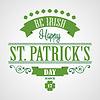 Glücklicher Heiligen Patrick `s Day Card. Typografische Mit