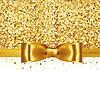 Блестящая золотая атласная лента | Векторный клипарт