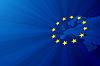 Europa Karte und Flagge der Europäischen Union