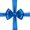 Shiny blue satin ribbon | Stock Vector Graphics
