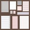 Векторный клипарт: копать старинные набор бумаги конструкций. Листы бумаги,