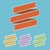 Векторный клипарт: набор старинных лентой баннер в разных цветах