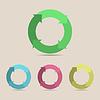 Векторный клипарт: схема из четырех частей цикла в одном цвете