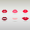 Векторный клипарт: Набор губ