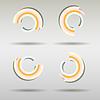 Векторный клипарт: Диаграмма набор с тенью. деловые документы, значок