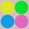 Векторный клипарт: Набор красочных мяч на розовом фоне