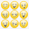 Векторный клипарт: набор смайликов, выражающих различные чувства
