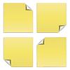 Векторный клипарт: Желтый палка примечание