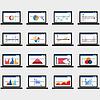 Векторный клипарт: Рынка бизнес-элементы данных точка круговые диаграммы бар